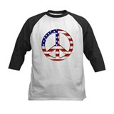 Patriotic Peace Sign Baseball Tee - Tee