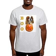 Halloween Cavalier Boo Ash Grey T-Shirt