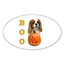 Halloween Cavalier Boo Oval Decal