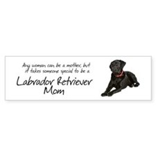 Black Lab Mom Bumper Sticker