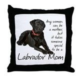 Black Lab Mom Throw Pillow