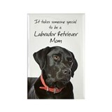 Black Lab Mom Rectangle Magnet