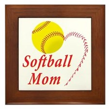 Softball mom Framed Tile