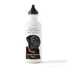 Black Lab Mom Water Bottle