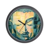 Tiled Buddha Wall Clock