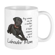Black Lab Mom Small Mug