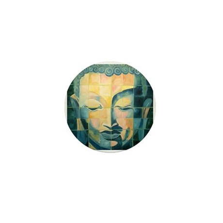 Tiled Buddha Mini Button