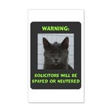 No Solicitations Wall Sticker