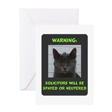 No Solicitations Blank Greeting Card