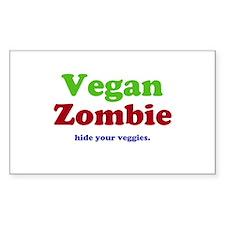 Vegan Zombie Decal
