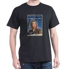 U.S. CADET NURSE CORPS Black T-Shirt