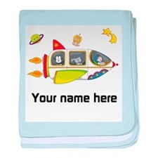 Personalized Space Baby Blanket