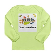 Personalized Space Long Sleeve Baby T-Shirt