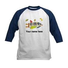 Personalized Space Kids Shirt Raglan Sleeves