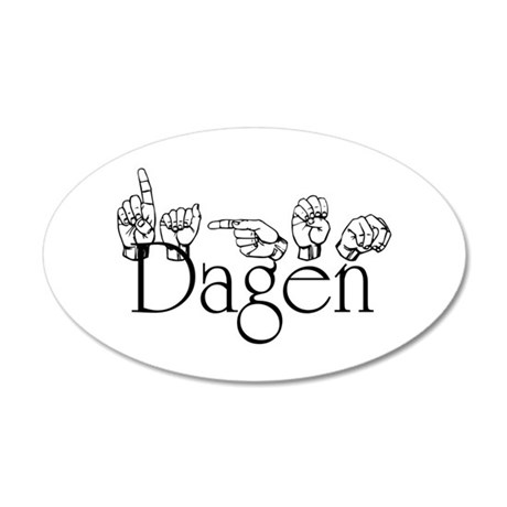 Dagen 35x21 Oval Wall Decal