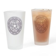 Purple Pentacle Drinking Glass