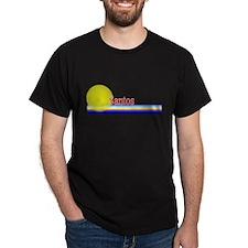 Santos Black T-Shirt