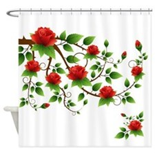 Elegant Red Roses Shower Curtain