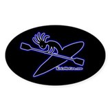 Kokopelli Kayaker Oval Decal