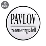 "Pavlov Rings Bells 3.5"" Button (10 pack)"