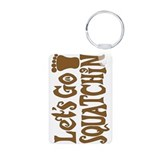 Let's Go Squatchin! Aluminum Photo Keychain