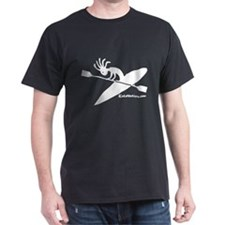 Kokopelli Kayaker Black T-Shirt