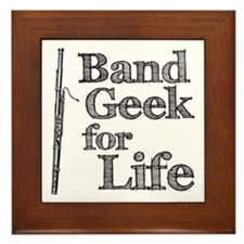 Bassoon Band Geek Framed Tile