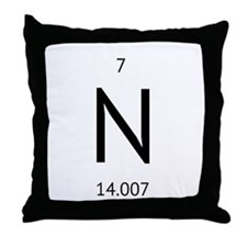 nitrogen Throw Pillow
