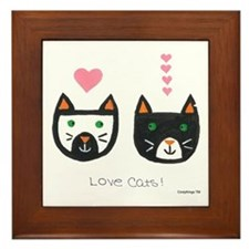 Love Cats Framed Tile