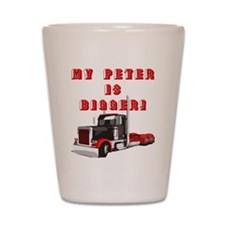 My PETER is BIGGER! Shot Glass