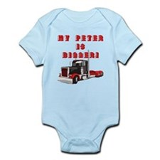 My PETER is BIGGER! Infant Bodysuit