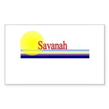Savanah Rectangle Decal