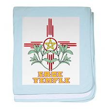 Sage Temple baby blanket
