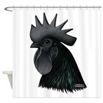 Ayam Ceymani Rooster Shower Curtain