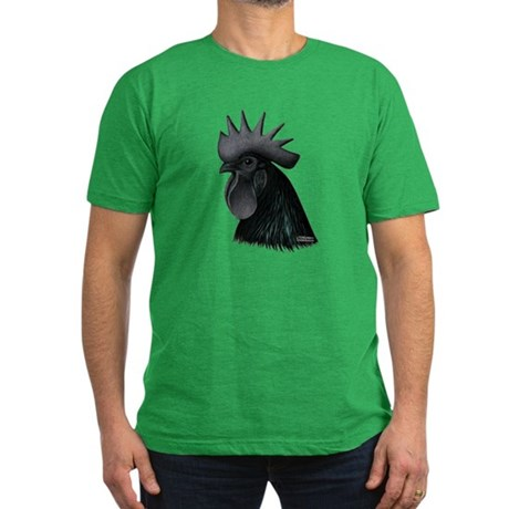 Ayam Ceymani Rooster Men's Fitted T-Shirt (dark)