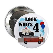 Everyday Heroes 4th Birthday Button