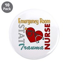 "ER Nurse 3.5"" Button (10 pack)"