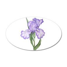 The Purple Iris 20x12 Oval Wall Decal