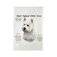 West Highland White Terrier Rectangle Magnet