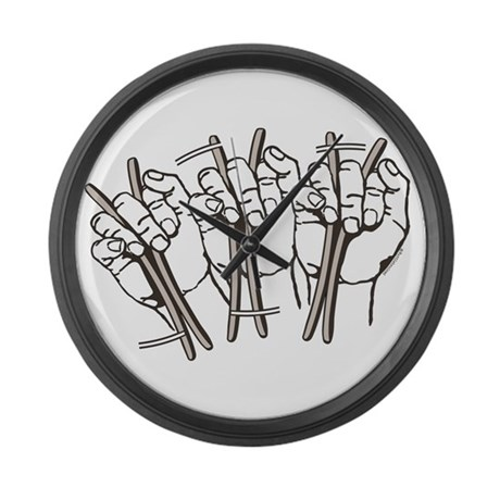 Traditional Grip Roll Large Wall Clock
