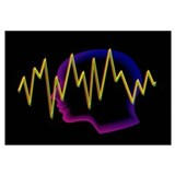 Artwork of a brainwave superimposed on a