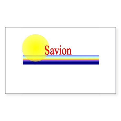 Savion Rectangle Sticker