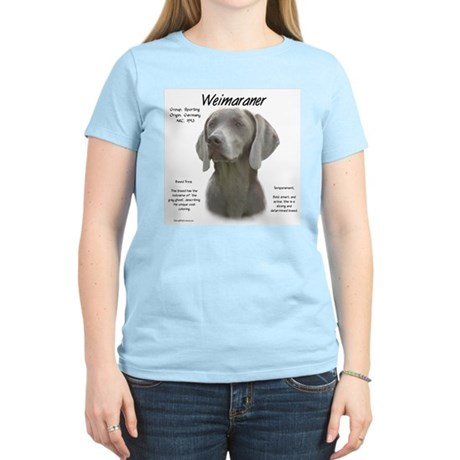 Weimaraner  Women's Pink T-Shirt