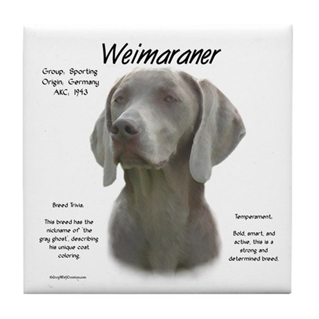 Weimaraner Tile Coaster