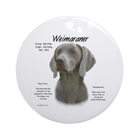 Weimaraner  Ornament (Round)