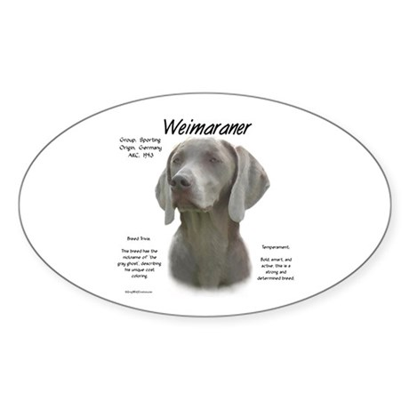 Weimaraner Oval Sticker