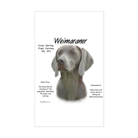 Weimaraner Rectangle Sticker