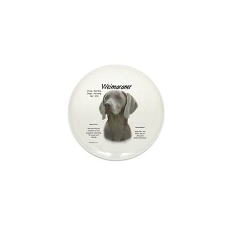 Weimaraner Mini Button