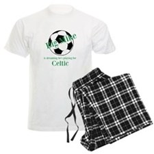 Personalised Men's Pyjamas - Football/White/Green