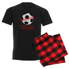 Personalised Men's Pyjamas - Football/Black/Red